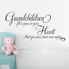 aliexpress com buy grandchildren fill a space in your heart that aliexpress com buy grandchildren fill a space in your heart that you never knew was empty living room bedroom pvc wall stickers removable mural from