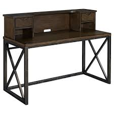 target desk with hutch xcel office desk with hutch cinnamon home styles target
