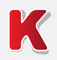 letter k sign design template element vector image