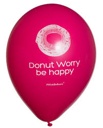 balloon delivery sydney donut worry be happy balloon bouquet delivered winkballoons