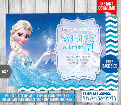 disney frozen elsa birthday invitation by templatemansion on