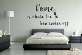 wall decals stickers home decor home furniture diy home is where the bra comes off wall art vinyl decal sticker