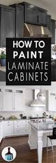 Paint Laminate Kitchen Cabinets by Painting Laminate Cabinets With No Prep Work Part 2 Kitchen