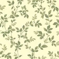 cleo yellow dog rose leaf trail wallpaper contemporary