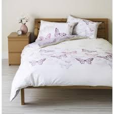 wilko butterfly print duvet set purple kingsize at wilko com