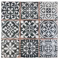 somertile 13x13 inch faventia nero ceramic floor and wall tile