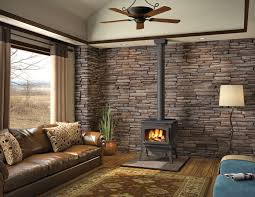 decor stacked stone tile accent walls and zero clearance wood