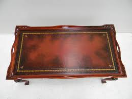 Leather Top Coffee Table Leather Inlay Coffee Table 12000 Coffee Tables