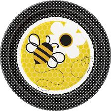 honey bee decorations for your home amazon com bumble bee dessert plates 8ct sized costumes