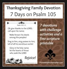 7 day thanksgiving family devotional subscriber freebie psalm