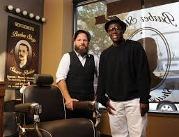guys get pampered at the gentleman u0027s barber shop and shave parlor