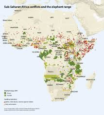 Map Of Sub Saharan Africa Sub Saharan Africa Conflicts And The Elephant Range Grid Arendal