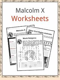 malcolm x facts worksheets u0026 activism information for kids