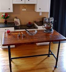 simple beautiful industrial kitchen island rustic industrial
