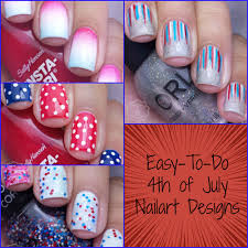 easy nail art for 4th of july manicured u0026 marvelous