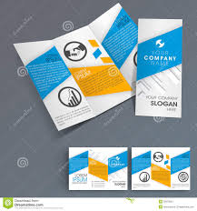 professional brochure design templates professional business three fold flyer template stock