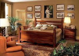 Bedroom Rustic Wooden Bed Frame Mixed With Decorative Indoor - Design of wooden bedroom furniture