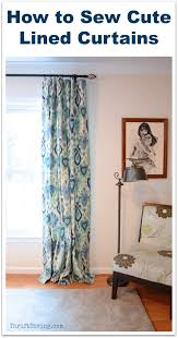 how to hang curtains properly how to sew cute lined diy curtains thrift diving blog