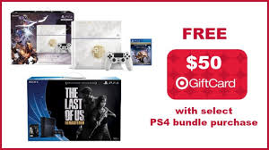 ps4 gift card target free 50 gift card with select playstation 4 bundle