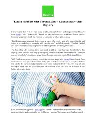 gifts registry estella partners with babylist to launch baby gifts registry