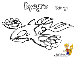 kyogre coloring pages funycoloring