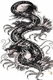 dragon tattoo design stencil