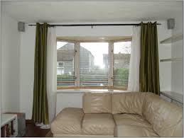 ideas for install bay window curtain rod treatments image of simple