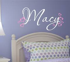 28 name wall stickers wall decal personalized little girls name wall stickers nursery wall decal custom name vinyl wall decal heart wall