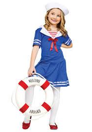 Nautical Halloween Costumes Sweet Sailor Girls Costume Kids Uniforms Nautical Costumes