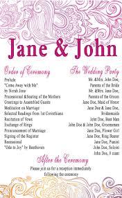 Downloadable Wedding Program Templates Groovy Wedding Program U2013 Wedding Programs Templates