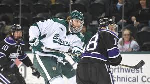 goals galore no 10 minnesota state hockey outlasts bemidji state