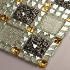 kitchen backsplash stickers glass tiles sheet mosaic wall stickers kitchen