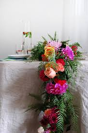flower table tutorial how to make a fresh flower garland we are scout