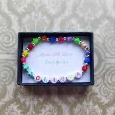 beaded bracelet name images Buy rainbow bead girls name bracelet from just 10 uneak boutique png