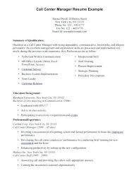 sample objectives in resume for call center agent cover letter