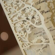 fancy invitations fancy gold glitter tree laser cut trifold wedding invitations