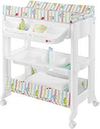 rolling baby changing table costway 2 in 1 baby changing table bath tub rolling unit station