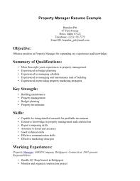 Best Resume Objective by Sample Property Management Resume Objective Restaurant Manager