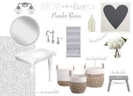 Paper Hand Towels For Powder Room - bright powder room arrow and lace blog