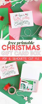 christmas gift card boxes diy gift card box free printable gift idea for christmas lou