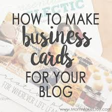 How To Design Your Business Card How To Design Custom Business Cards For Your Blog