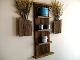 Home Decor Shelf Ideas by Square Design Black Wooden Wall Mounted Rack Beautiful Display