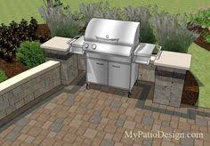 Backyard Brick Patio Design With 12 X 12 Pergola Grill Station by Large Brick Patio Design With 12 X 16 Cedar Pergola Outdoor