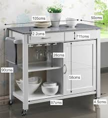 white kitchen island granite top harrogate white painted hevea hardwood kitchen trolley island with