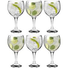 cocktail glass set rink drink gin and tonic glasses set of 6