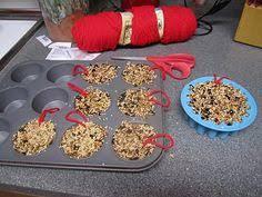 no suet no gelatin bird seed ornaments kid friendly backyard