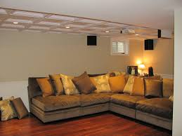 drop ceiling tiles basement traditional with beige cabinets beige