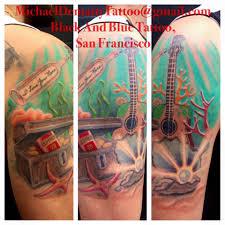 michael u2014 black blue tattoo