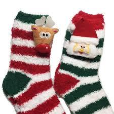 fuzzy christmas socks santa rudolph candy fuzzy slipper socks efizzle
