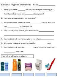 hygiene for kids worksheets worksheets